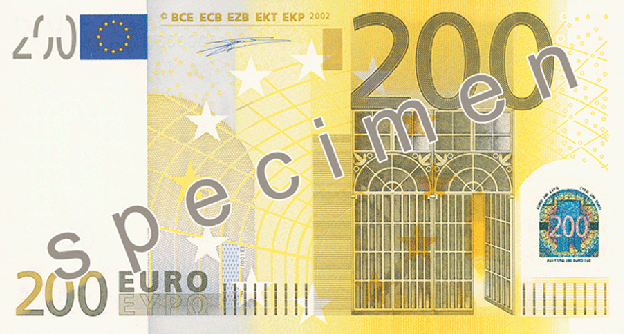 Two Hundred Euro Note