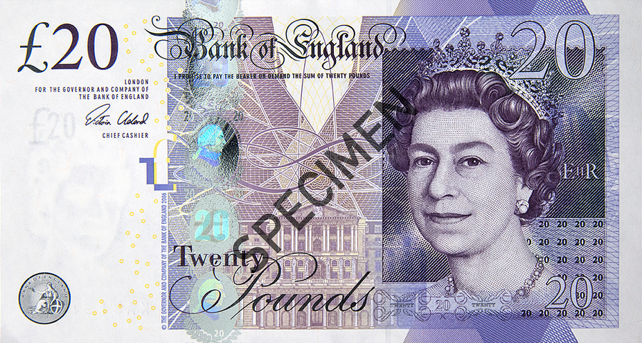 Twenty Pounds Banknote